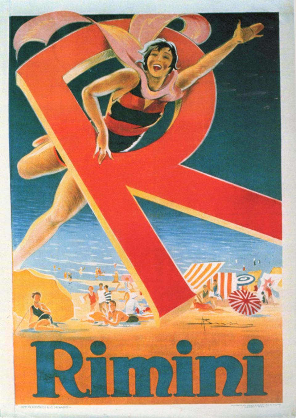 Estremamente Saluti da Rimini, i manifesti e le cartoline balneari nella  KX16
